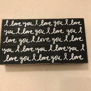 I love you I love you wall plaque wooden